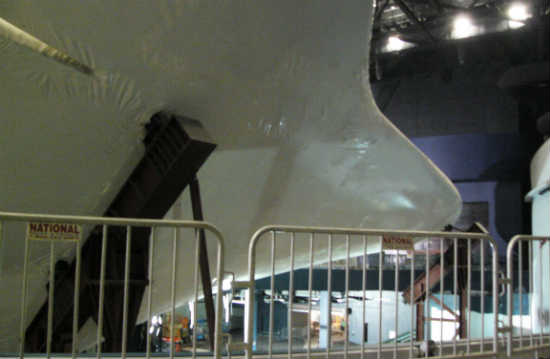 A balcony surrounds 3 sides of Atlantis, and both upper and lower floors will have hands-on exhibits that tell the story of the shuttle program, the people behind the program, and the past, present and future of space travel.