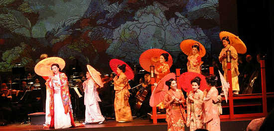 The cast of the Orlando Philharmonic's production of Madama Butterfly
