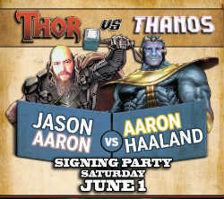 Jason Aaron will be making an instore appearance at A Comic Shop