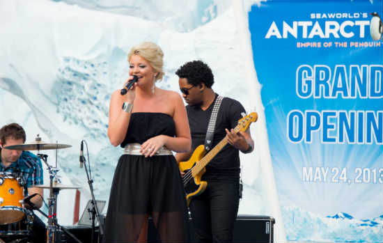 SeaWorld Orlando Antarctica grand opening - Lauren Alaina performs