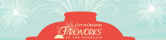 Orlando Fireworks at the Fountain