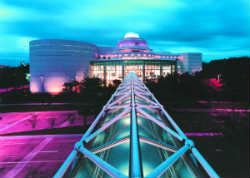 Orlando Science Center at night