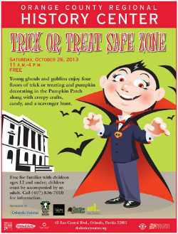 Orange County Regional History Center, Trick or Treat Safe Zone