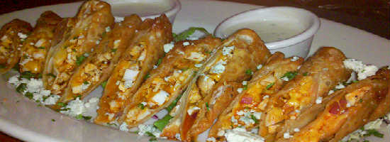 Tony Roma's Buffalo Chicken Eggrolls