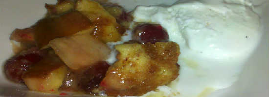 Tony Roma's Seasonal Cobbler with Vanilla Ice Cream