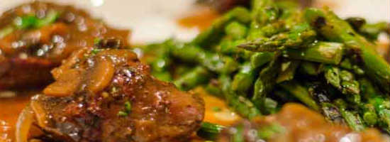 Tony Roma's Filet Medallions with a Sam Adams mushroom sauce
