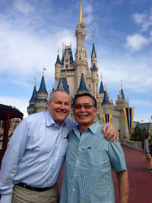 George Takei and his husband Brad