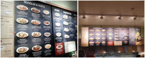 Noodles & Company menu boards