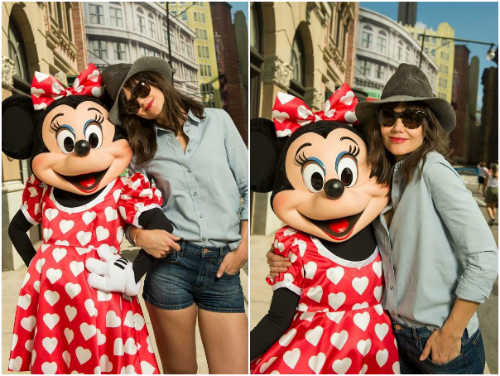 Katie Holmes and Minnie Mouse