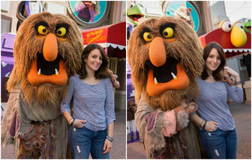 Tina Fey and Sweetums