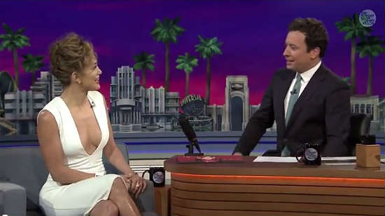 Jimmy Fallon with Jennifer Lopez