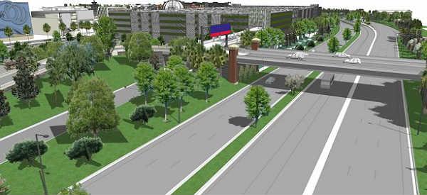 Disney Springs West Side traffic rendering