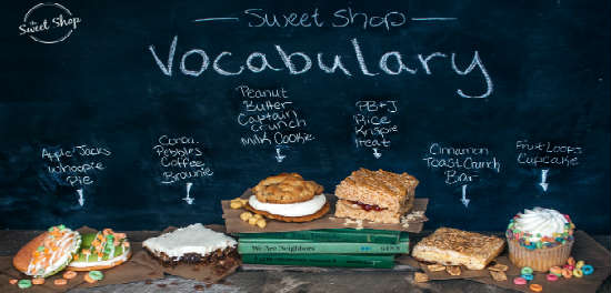 Sweet Shop Vocabulary collection