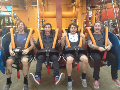 All American Rejects ride Falcon's Fury at Busch Gardens Tampa