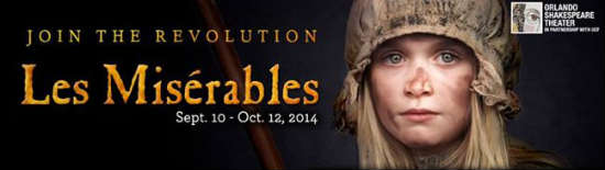 Orlando Shakespeare Theater in Partnership with UCF will present Les Miserables