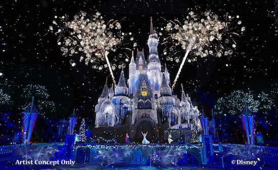 Magic Kingdom gets Frozen for the holidays.