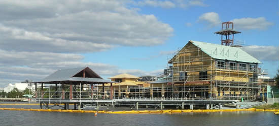 The BOATHOUSE at Disney Springs under construction.