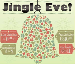 Jingle Eve celebration in Ivanhoe Village