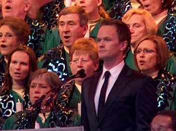 Neil Patrick Harris at Epcot's Candlelight Processional. Photo by Michelle Snow.