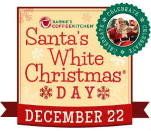 Santa's White Christmas Day at Barnie's CoffeeKitchen