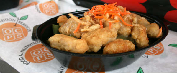 Orange County Public Schools food truck - Green Bean Chicken Casser-bowl
