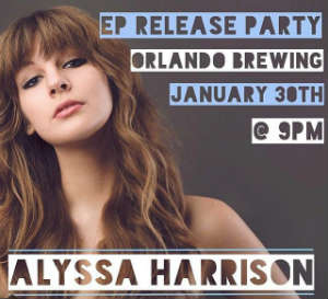 Alyssa Harrison to Hold EP Release Party at Orlando Brewing