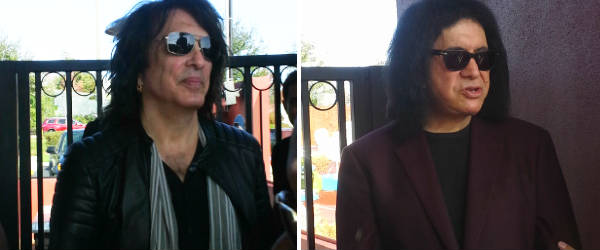 Paul Stanley and Gene Simmons work the door at Rock & Brews Oviedo
