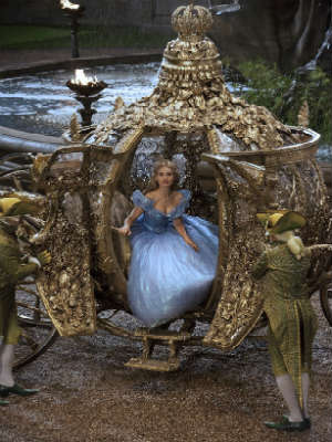 "The golden coach from Disney's upcoming live-action version of ""Cinderella"""