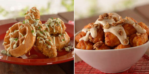 Fantasy Fare food truck new items: Game Day Chicken and Waffles; Sweet Potato Puffs