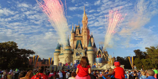 Walt Disney World - Fireworks during the day at Magic Kingdom