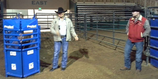 Touring Silver Spurs Rodeo set-up with Kamry Dymek and Tim Shirah.