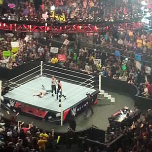WWE Raw at Amway Center - A packed arena