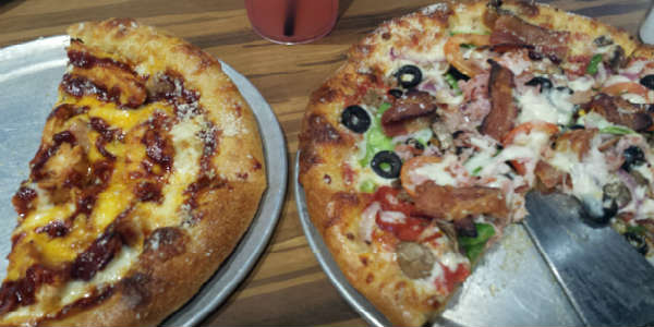 Mellow Mushroom - Funky Q pizza and House Special pizza