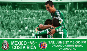 Mexican and Costa Rican national teams at the Orlando Citrus Bowl