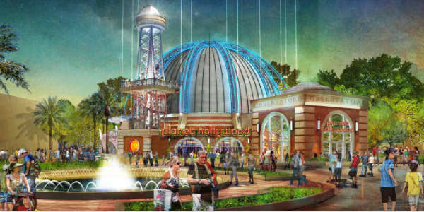 Planet Hollywood will revamp its Orlando flagship location into a four-story building called Planet Hollywood Observatory.