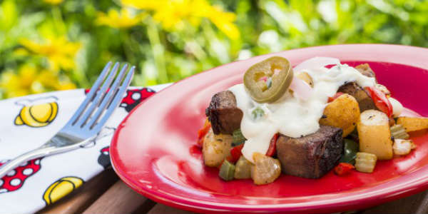 Epcot International Flower & Garden Festival - Beef Brisket Burnt Ends Hash