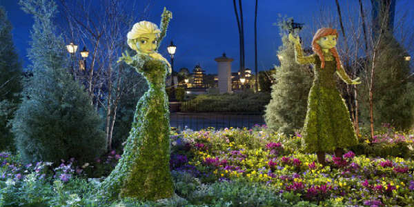 Epcot International Flower & Garden Festival - Anna and Elsa Topiary