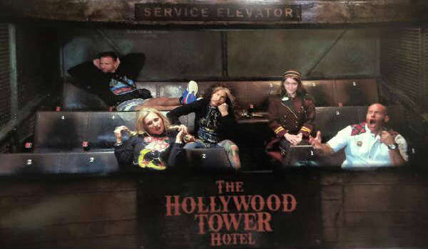 Aerosmith's Steven Tyler riding Tower of Terror at Disney's Hollywood Studios
