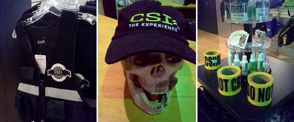 CSI: The Experience in Orlando - merchandise