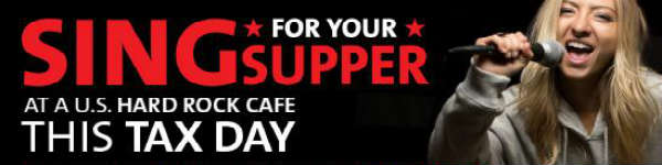 Sing for Your Supper at Hard Rock Cafe Orlando on April 15, 2015