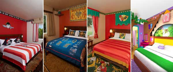 LEGOLAND Hotel Florida - main bedroom (l-r: Pirate, Adventure, Kingdom, Friends)
