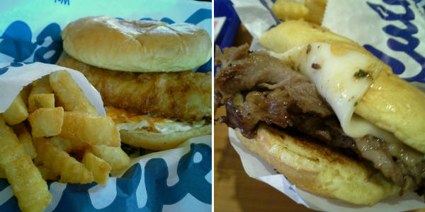 Culver's Clermont Fried Fish and Shaved Prime Rib sandwiches