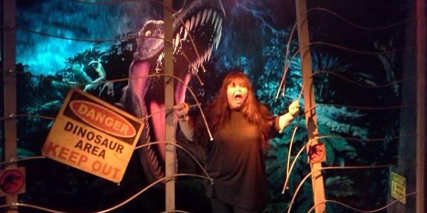 Madame Tussauds Orlando - Running from a dinosaur