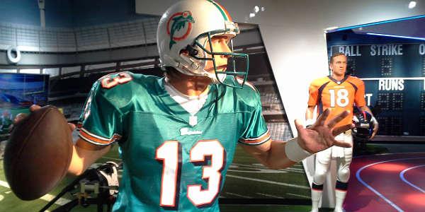 Madame Tussauds Orlando - Dan Marino and Peyton Manning