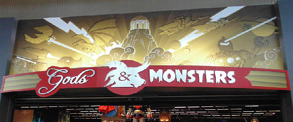 Gods and Monsters storefront - geek shopping in Orlando