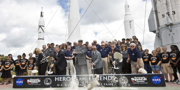 Heroes and Legends Attractionbreaks ground at Kennedy Space Center