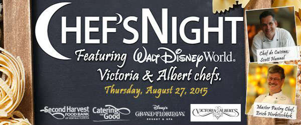 Second Harvest Food Bank of Central Florida to Host Victoria & Albert's Chef's Night