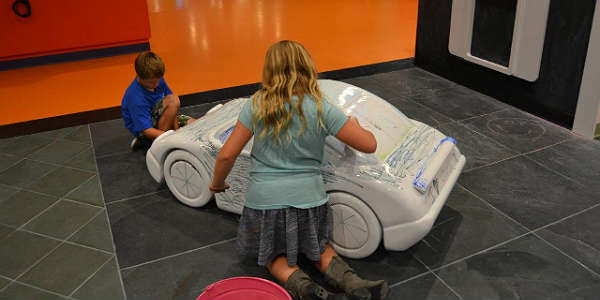 Crayola Experience opens at the Florida Mall - Coloring the Car by Kirk Garreans