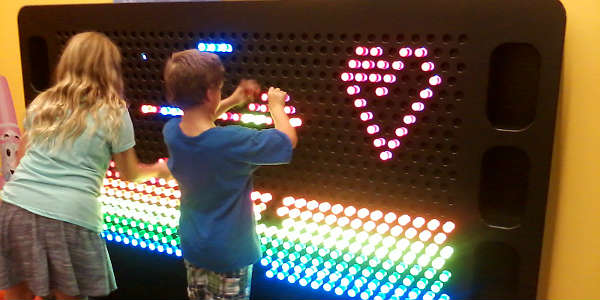 Crayola Experience opens at the Florida Mall - Light Up Wall by Carol Garreans