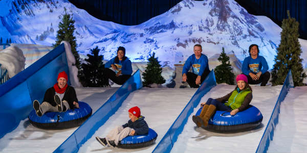 Christmas at Gaylord Palms - snow tubing
